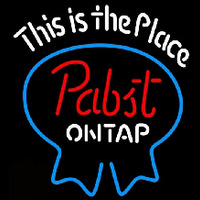 Pabst Light This is the Place Beer Sign Neontábla
