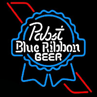 Pabst Skyblue Red Ribbon Beer Sign Neontábla
