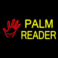 Palm Reader Logo Neontábla