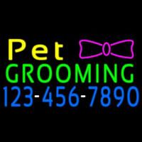 Pet Grooming With Phone Number Neontábla