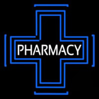 Pharmacy Inside Plus Logo Neontábla