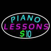 Piano Lessons Dollar Neontábla
