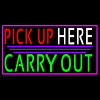 Pick Up Carry Out Here Neontábla