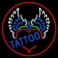 Piercing Tattoo Addiction Logo Neontábla