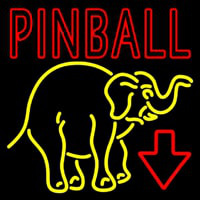 Pinball With Arrow Neontábla