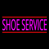 Pink Shoe Service With Line Neontábla