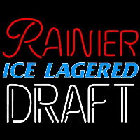 Rainier Ice Lagered Draft Beer Sign Neontábla
