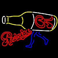 Rainier Walking R Bottle Beer Sign Neontábla