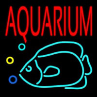 Red Aquarium Fish Logo Neontábla