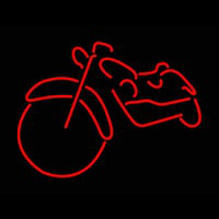 Red Bike Logo Neontábla
