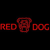Red Dog Head Logo Beer Sign Neontábla