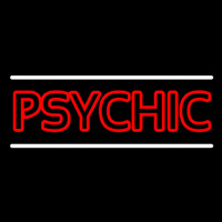 Red Double Stroke Psychic White Line Neontábla