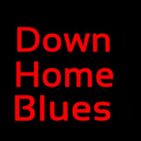 Red Down Home Blues Neontábla