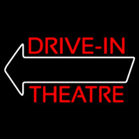 Red Drive In Theatre White Arrow Neontábla