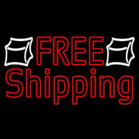 Red Free Shipping Neontábla