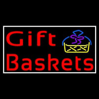 Red Gift Baskets With Logo Neontábla