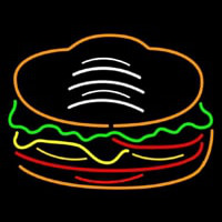 Red Green Burger Logo Neontábla
