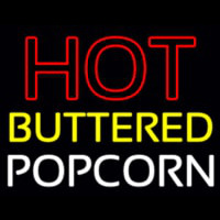 Red Hot Yellow Buttered White Popcorn Neontábla