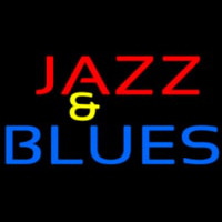 Red Jazz And Blue Blues Block Neontábla
