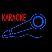 Red Karaoke With Mike Logo 2 Neontábla