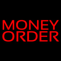 Red Money Order Neontábla