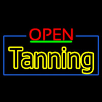Red Open Double Stroke Tanning Neontábla