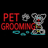 Red Pet Grooming Neontábla