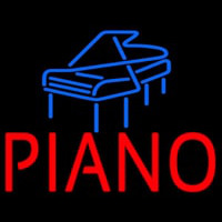 Red Piano Blue Logo 1 Neontábla