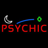 Red Psychic Block Logo Neontábla