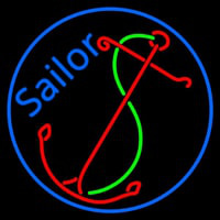 Red Sailor Logo Neontábla