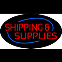 Red Shipping Supplies Deco Style Neontábla
