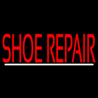 Red Shoe Repair With Line Neontábla