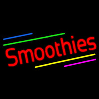 Red Smoothies With Multi Colored Lines Neontábla
