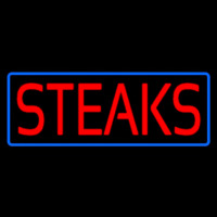 Red Steaks With Blue Border Neontábla