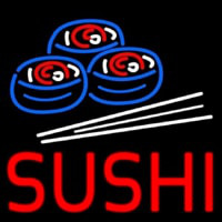 Red Sushi With Sushi Logo Neontábla