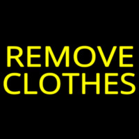 Remove Clothes Neontábla