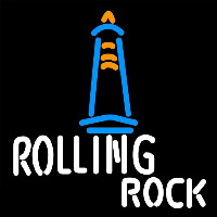 Rolling Rock Lighthouse Lounge Beer Sign Neontábla