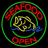 Round Seafood Open  Neontábla
