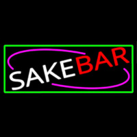 Sake Bar With Green Border Neontábla