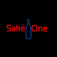 Sake One With Bottle Neontábla