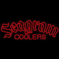Seagram Logo Wine Coolers Beer Sign Neontábla