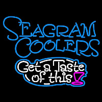 Seagram Test Of This Wine Coolers Beer Sign Neontábla
