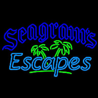 Seagrams Escapes Wine Coolers Beer Sign Neontábla
