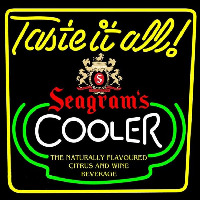 Seagrams Swagjuice Wine Coolers Beer Sign Neontábla