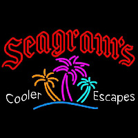 Seagrams Wild Berry Margarita Strawberry Daiquiri Wine Coolers Beer Sign Neontábla
