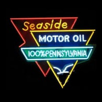 Seaside Motor Oil Neontábla