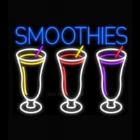Smoothies 3 Cups Logo Neontábla