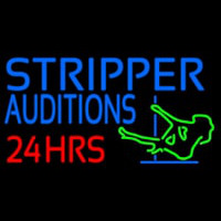 Stripper Audition 24 Hrs Logo Neontábla