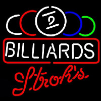 Strohs Ball Billiards Te t Pool Beer Sign Neontábla