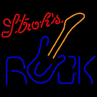 Strohs Rock Guitar Beer Sign Neontábla
